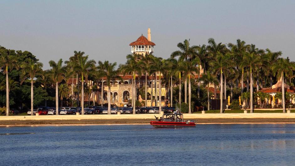 Die neue Heimat nach dem Amt: das Luxusanwesen Mar-a-Lago in West Palm Beach in Florida. Hier wird Donald Trump künftig wohnen.