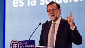 Rajoy macht Regionalwahl zur Chefsache