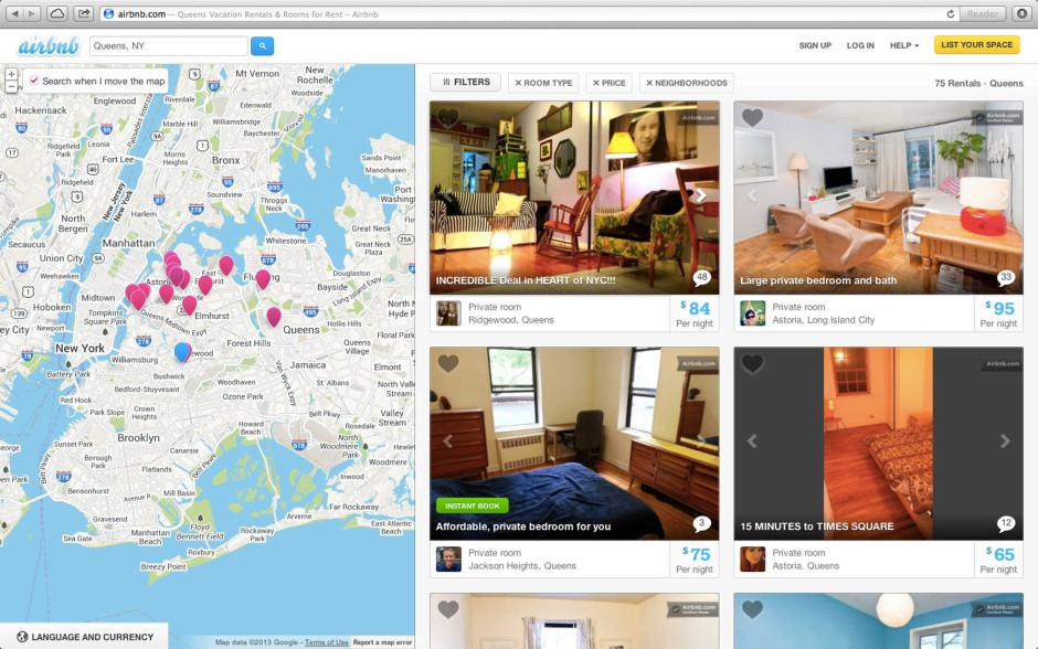 Am Ende gewinnt immer Jeff Bezos: Website von Airbnb