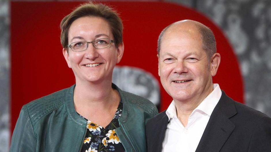 Klara Geywitz und Olaf Scholz kandidieren gemeinsam für den SPD-Parteivorsitz.
