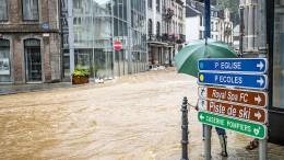 Hochwasser auch in den Niederlanden und Belgien