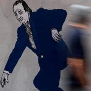 Auf der Flucht: Wandbild von Juan Carlos in Valencia