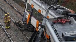 Erdrutsch lässt Zug bei Barcelona entgleisen