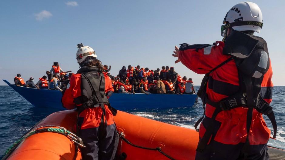 Seenotrettung im Mittelmeer im Februar 2021