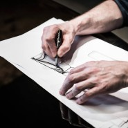 Ein Talent fürs Zeichnen: Delcourts Möbel entstehen auf Papier.