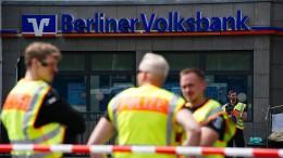 Schusswechsel bei Banküberfall in Berlin