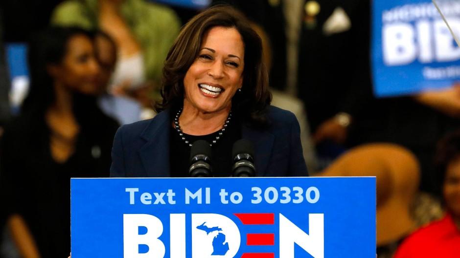 Die kalifornische Senatorin Kamala Harris geht als Vize-Präsidentschaftskandidatin für die Demokraten im November ins Rennen.
