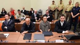 Die fünf Angeklagten im NSU-Prozess