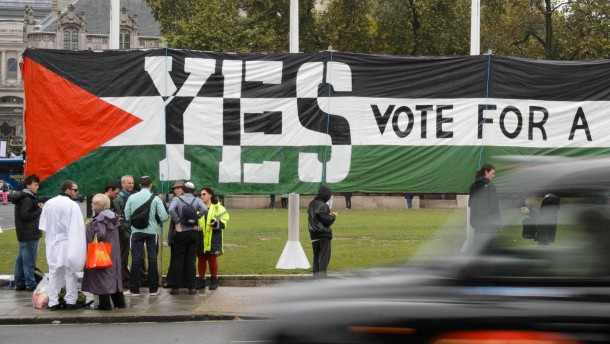 Abgeordnete stimmen für Anerkennung Palästinas