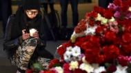 Trauer und Angst in St. Petersburg