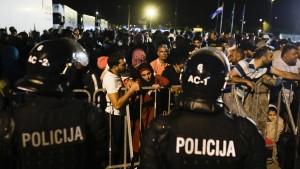 Chaos an den Balkangrenzen