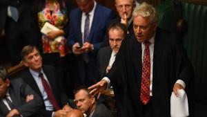 Bercow rügt Abgeordnete im Unterhaus