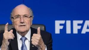 Herr Blatter ist völlig zuversichtlich
