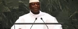 Präsident Yahya Jammeh spricht vor den Vereinten Nationen.