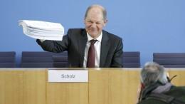 Olaf Scholz, ein Schulden- und Mutmacher
