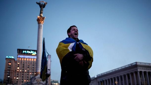 Ukrainer protestieren wieder auf dem Maidan