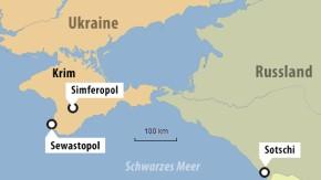 450 Kilometer liegen zwischen der Krim und Paralympics-Ort Sotschi