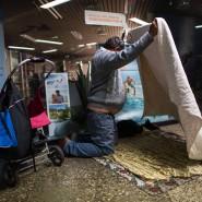 Wohnungslos: Seit Anfang November können Obdachlose Unterschlupf in der U-Bahn-Station Hauptwache finden.