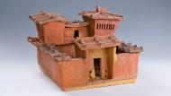 Dieses Hausmodell stammt aus aus dem ersten bis dritten Jahrhundert.