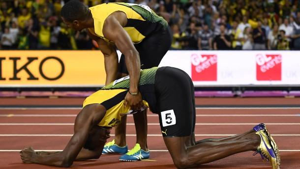 Bolt beendet Karriere mit einem Sturz