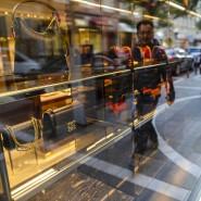 Die Laufkundschaft nimmt in der Krise ab: GUCCI-Laden in Frankfurt