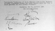 Das Ur-Exemplar der Verfassung des Landes Hessen vom 1.12.1946