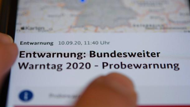 Viele Probleme beim deutschlandweiten Warntag