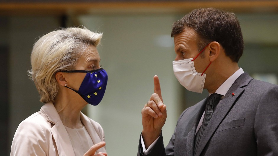 Von der Leyen und Macron im Juni in Brüssel