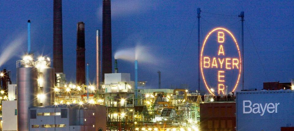 Bayers Werksgelände in Leverkusen