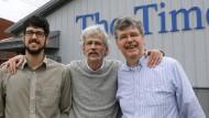 Art Cullen (Mitte) mit seinem Sohn Tom (links) und seinem Bruder John