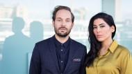 """Podcast von der Buchmesse: Friedemann Karig und Samira El Ouassil über ihr Buch """"Erzählende Affen"""""""