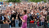 Die Klimaaktivistin Greta Thunberg am Freitag in Berlin