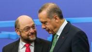EU-Parlamentspräsident Martin Schulz und der türkische Präsident Recep Tayyip Erdogan