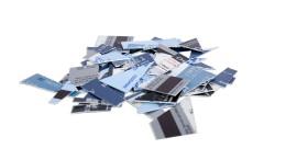 Ozeanplastik für die Kreditkarte