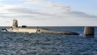 Begrenztes europäisches Atomwaffenarsenal: Ein britisches Trident-Atom-U-Boot vor Schottland.