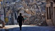 Drohnen-Video zeigt ein zerstörtes Aleppo
