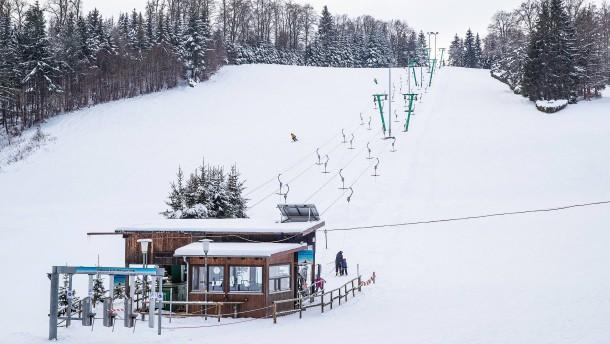 Garmischer Skifahrer auf der Alb
