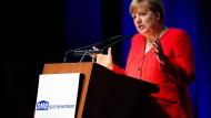 Bundeskanzlerin Angela Merkel am Freitag auf dem Mietertag in Köln