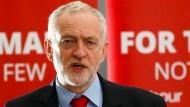 Polarisiert nicht nur in Großbritannien: Labour-Chef Jeremy Corbyn
