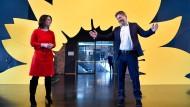 Politik als Ästhetik: Annalena Baerbock und Robert Habeck nach der Präsentation des Entwurfs des Wahlprogramms in Berlin.