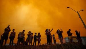 Starke Waldbrände in Chile