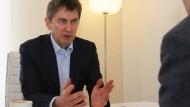 Maximilian Zimmerer im Gespräch in Davos