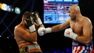 Tyson Fury im Kampf gegen Tom Schwarz