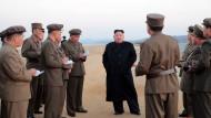 Damit kein Wort verloren geht:Dieses Foto Kim Jong-uns verbreitete Nordkorea anlässlich des neuen Waffentests.