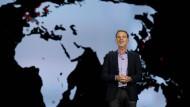 Den Weltmarkt fest im Blick: Netflix-Chef Reed Hastings bei seinem Auftritt auf der CES 2016