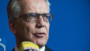 De Maizière will deutlich mehr Bundespolizisten