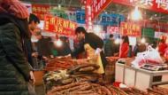 Vorbereitungen auf das chinesische Neujahrsfest am 26. Januar 2014 in Peking