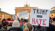 Auch in Deutschland gab es nach der Wahl Demonstrationen gegen Trump