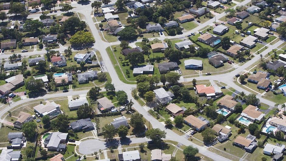 Amerikanischer Suburb in Florida.
