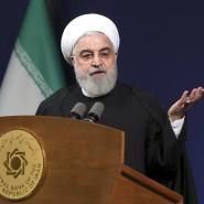 Der iranische Präsident Hassan Rohani bei einer Rede in Teheran.